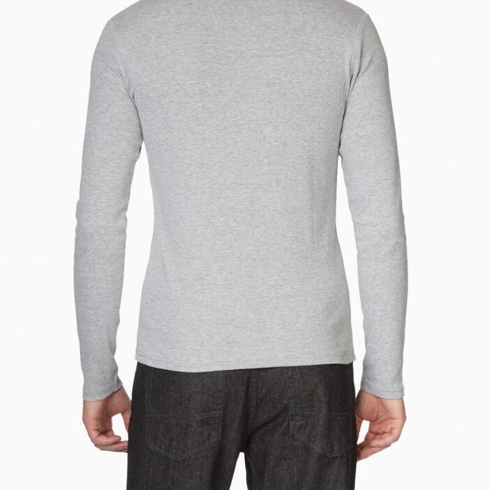 T-shirt en coton uni homme gris