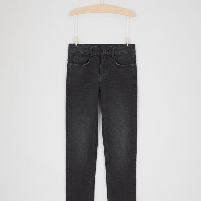 Jean straight poches avec rivets garçon noir