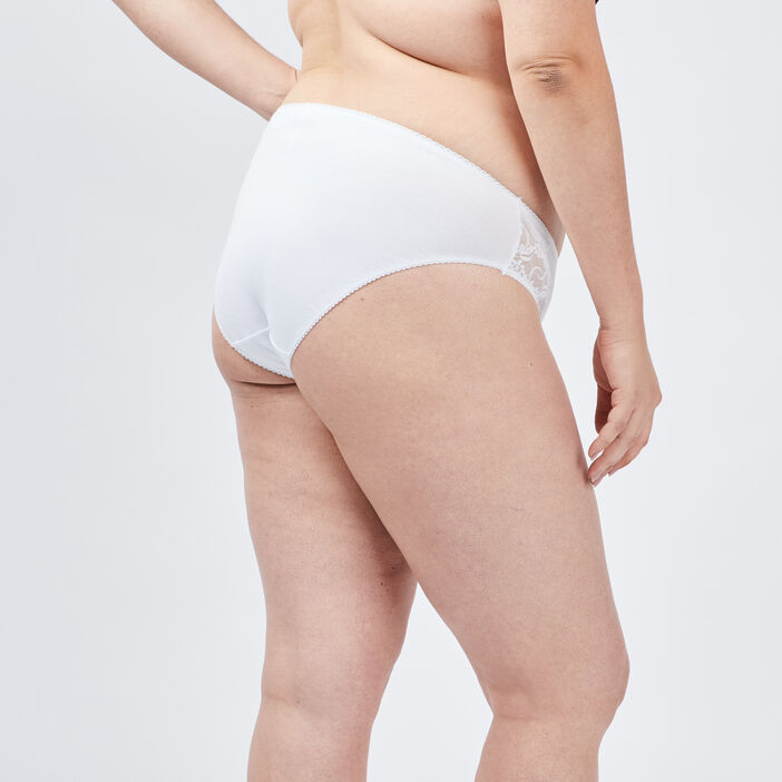 Culotte grande taille femme grande taille blanc