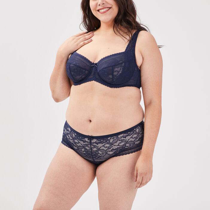 Soutien-gorge grande taille femme bleu marine