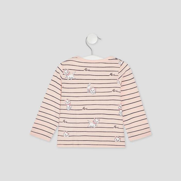 T-shirt Les Aristochats bébé fille rose clair