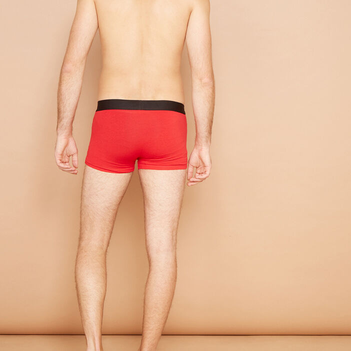 Boxer homme rouge