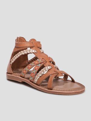 Sandales en cuir Creeks marron fille