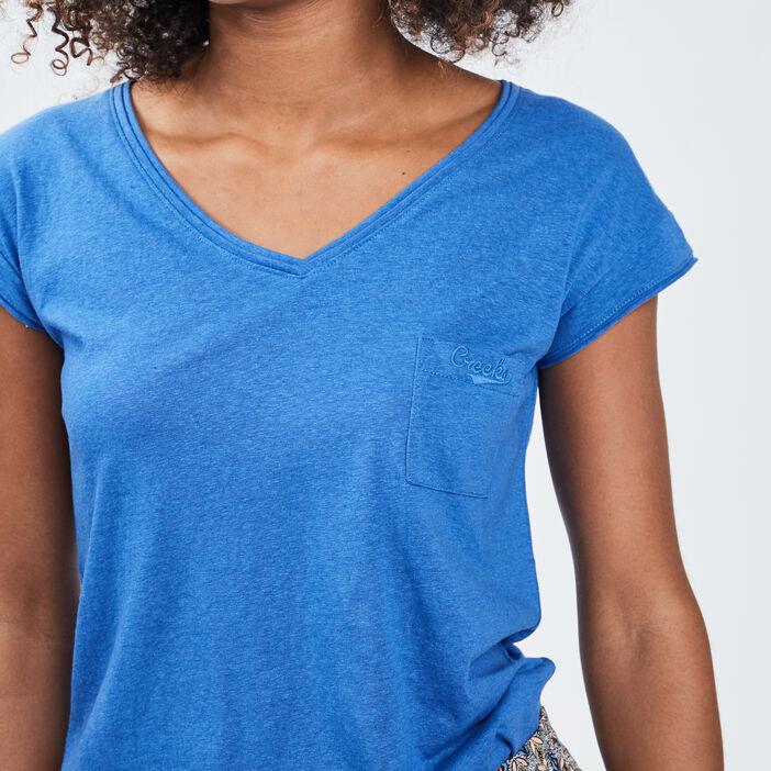 T-shirt manches courtes Creeks femme bleu