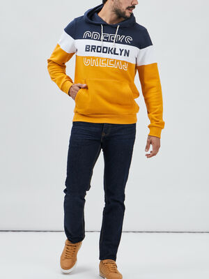 Sweat a capuche Creeks jaune moutarde homme