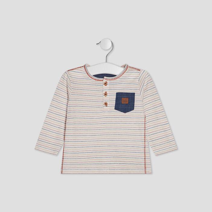 T-shirt manches longues Creeks bébé garçon multicolore