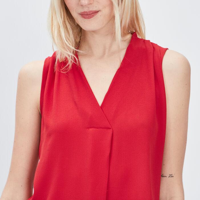 Débardeur bretelles larges femme rouge