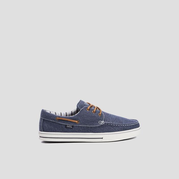 Chaussures bateau en jean homme bleu