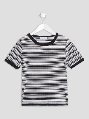 T shirt manches courtes Creeks gris fille