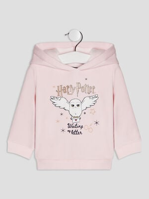 Sweat a capuche Harry Potter rose clair bebef