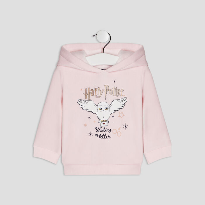 Sweat à capuche Harry Potter bébé fille rose clair