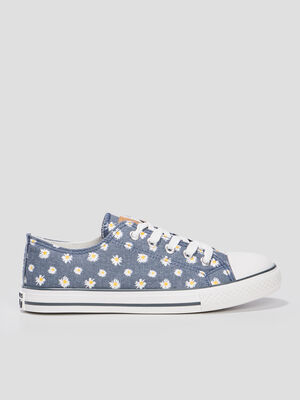 Tennis a lacets Creeks bleu fille