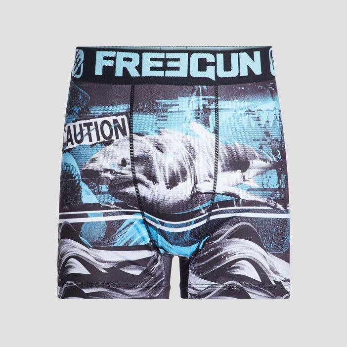 Boxer Freegun homme bleu turquoise