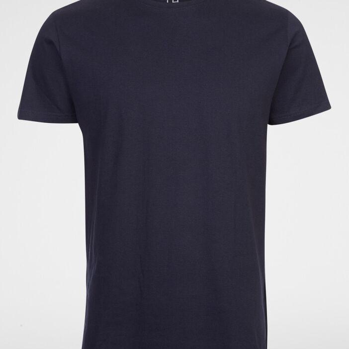 T-shirt col rond uni homme bleu marine