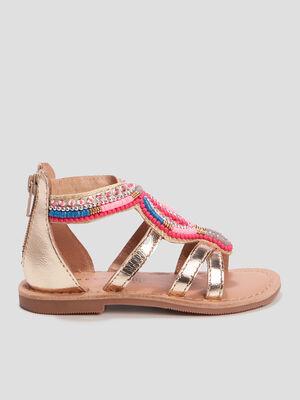 Sandales a perles Creeks couleur or fille