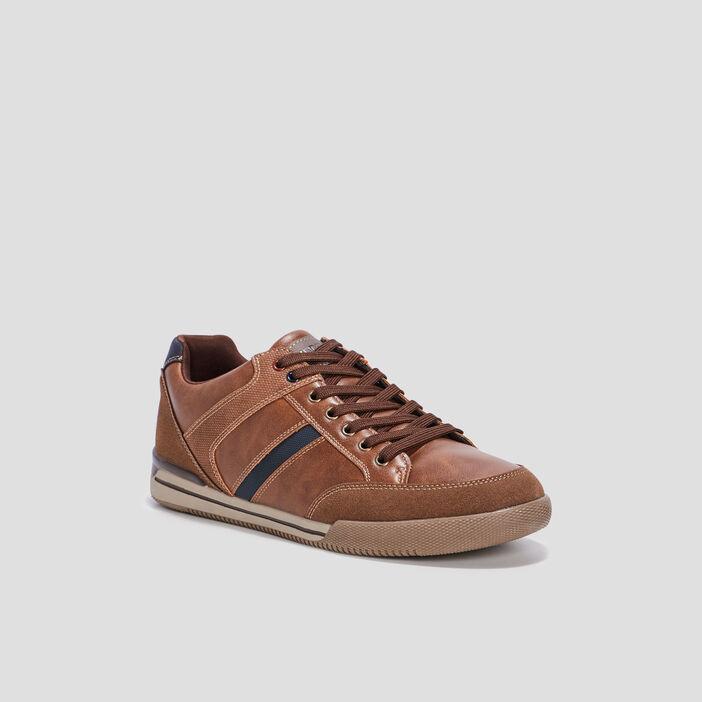 Sneakers plates Trappeur homme marron