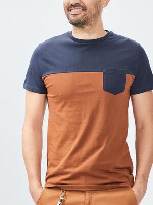 T shirt Trappeur camel homme