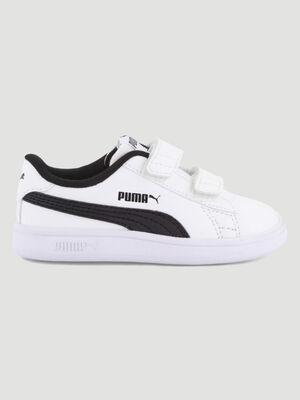 Tennis Puma SMASH V2 blanc garcon