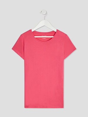 T shirt manches courtes rose fushia fille