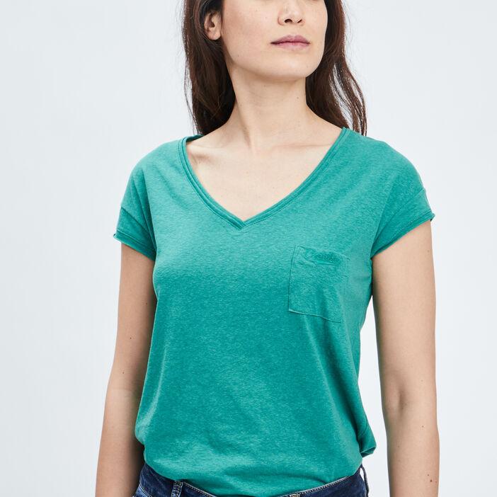 T-shirt manches courtes Creeks femme vert
