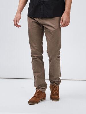 Pantalon droit taupe homme