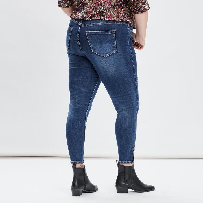 Jeans slim grande taille femme grande taille denim stone