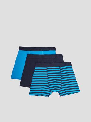 Lot 3 boxers bleu turquoise garcon