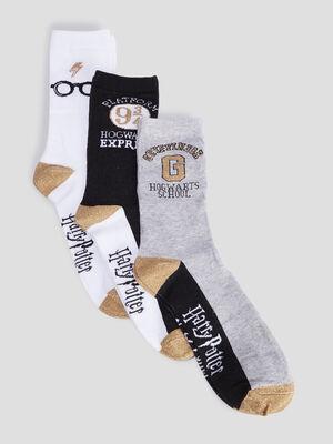 Lot 3 chaussettes Harry Potter multicolore femme