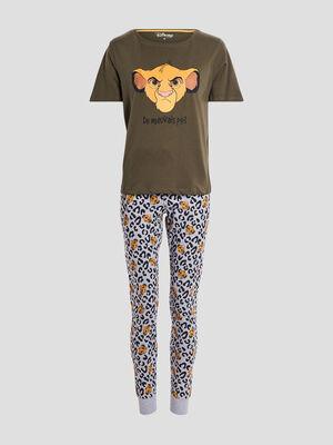 Ensemble pyjama Le Roi lion vert kaki femme