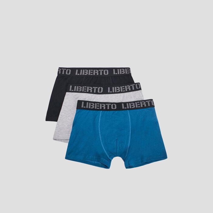 Lot 3 boxers Liberto homme bleu canard