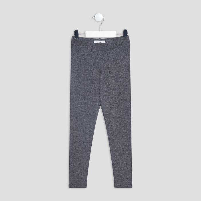 Pantalon legging fille gris fonce
