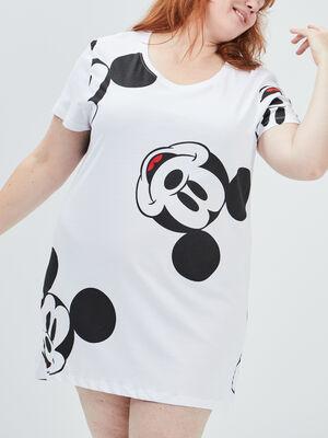 Chemise de nuit Mickey blanc femmegt