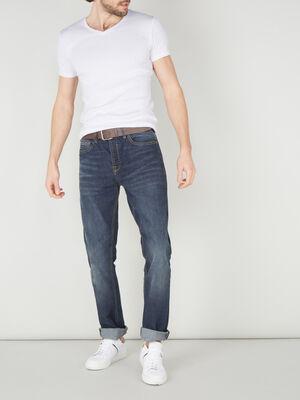 Jean 5 poches regular denim stone homme