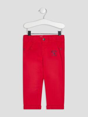 Pantalon droit Creeks rouge bebeg
