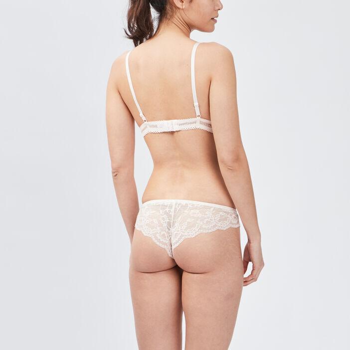 Soutien-gorge triangle dentelle femme rose clair