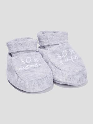 Chaussettes dinterieur gris mixte