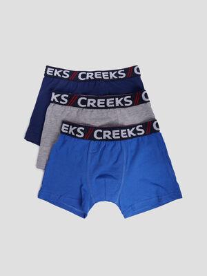 Lot 3 boxers Creeks bleu garcon