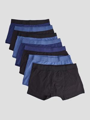 Lot 7 boxers bleu garcon