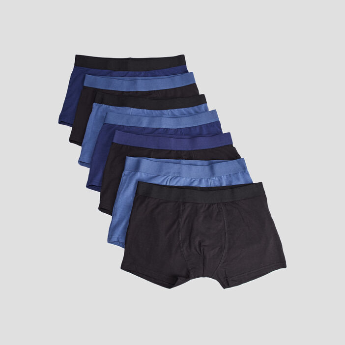 Lot 7 boxers garçon bleu