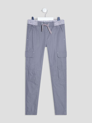 Pantalon battle gris clair garcon