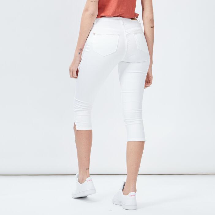 Jeans slim 7/8ème femme blanc