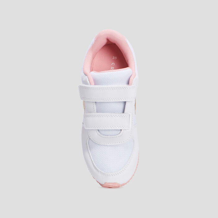 Baskets running fille blanc