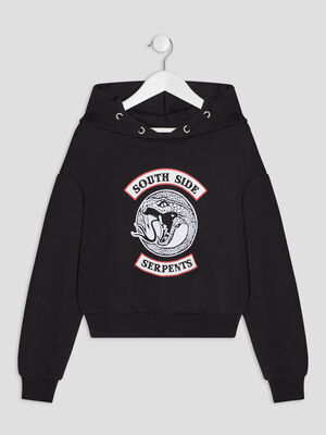 Sweat a capuche Riverdale noir fille