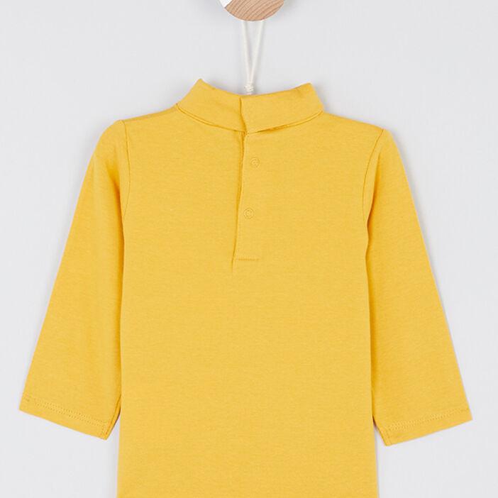 T-shirt à col roulé garçon jaune