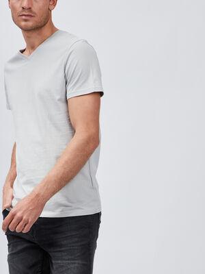 T shirt manches courtes gris clair homme