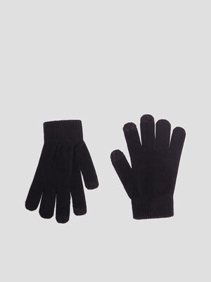 Gants tactiles noir femme