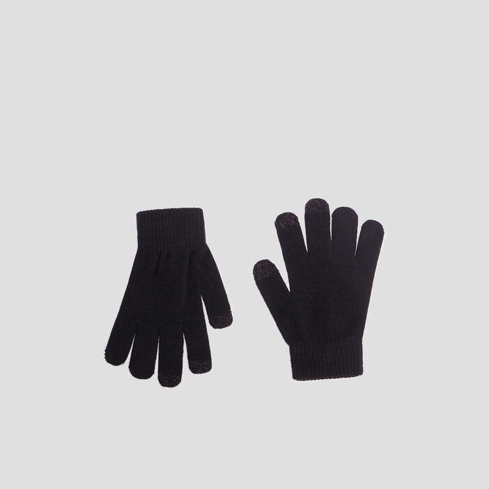Gants tactiles femme noir
