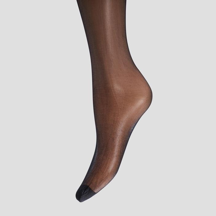 Collants semi-transparents femme noir