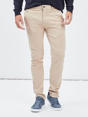 Pantalon chino skinny Creeks beige homme
