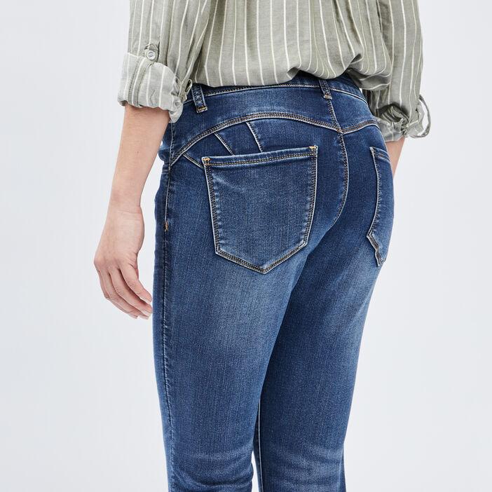 Jeans skinny 7/8ème femme denim double stone
